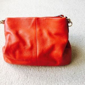Coach Coral Pebbled shoulder bag